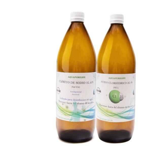 HCL litro de clorito y acido activador