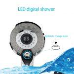 Cabezal de ducha Digital LED Recargable
