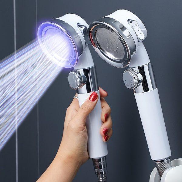 Cabezal de ducha presurizado con chorro
